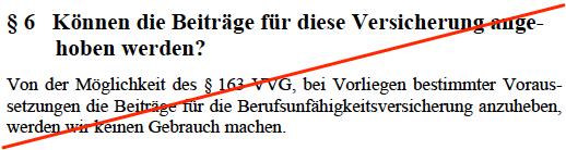 Alte Leipziger BU §163 VVG