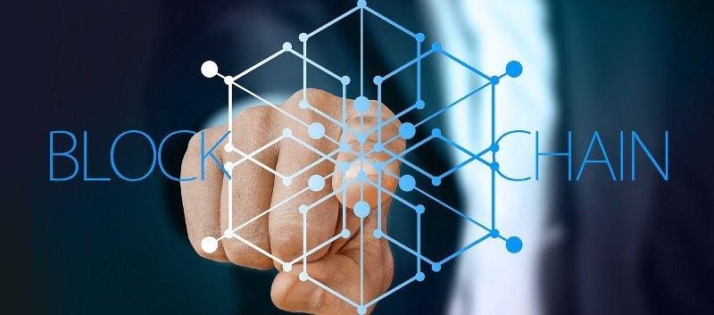 Blockchain bedeutet Blöcke an einer Kette