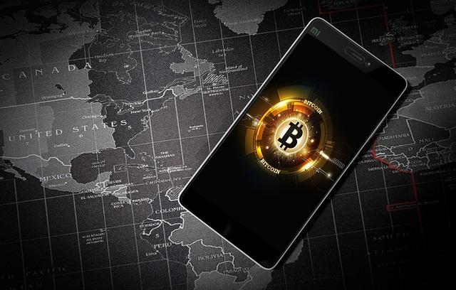 Smartphone zum Trading von Bitcoins