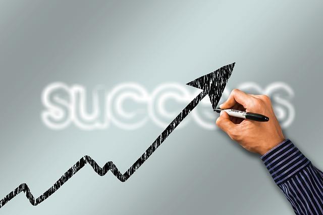 Aufwärtskurve führt zu Erfolg