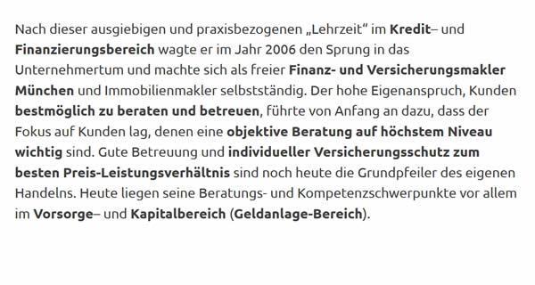 Finanz Versicherungsmakler für 80331 München