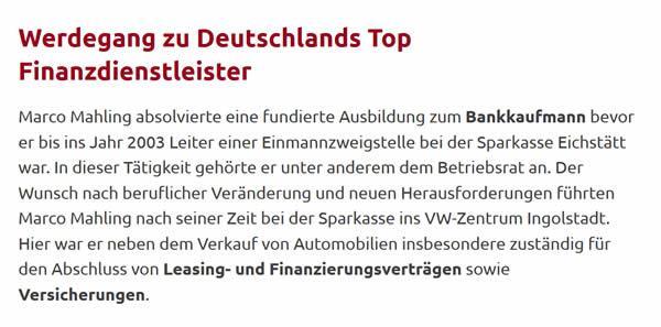 Finanzdienstleister aus  München