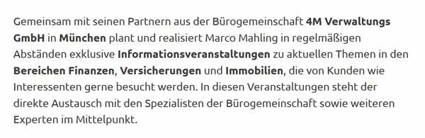 Private Vorsoger für  München