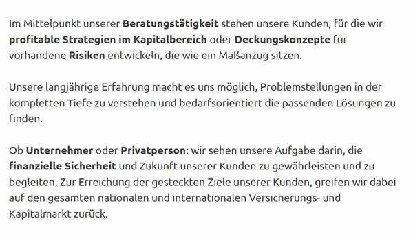 Unabhängige Versicherungsberatung für  München