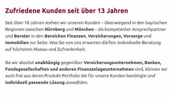 Unabhängiger Versicherungsberater für  München